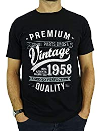 1a26fd8de886f My Generation Gifts 1958 Vintage Year - Aged To Perfection - Regalo di  Compleanno per 60 Anni…