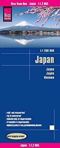 Reise Know-How Landkarte Japan (1:1.200.000): world mapping project