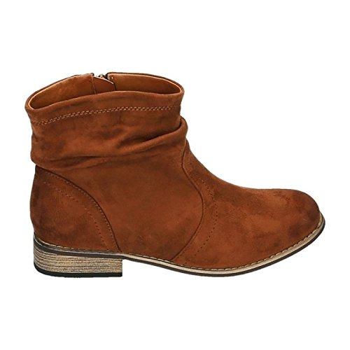 Senhoras Botas Botas Cowboy Botas Ocidentais Plana Sapatos Hp86 Camelo