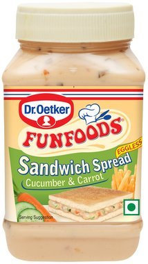 Funfoods Cucumber and Carrot Sandwich Spread Eggless, 300g