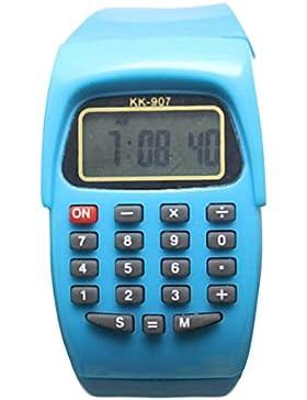 8-stelliges Taschenrechner Kinder Kids Uhren Digital LCD Armbanduhr für junge Mädchen ws @ ktw907l