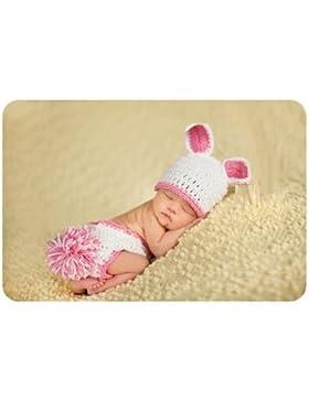 Pink Rabbit (2), Newborn Baby Mädchen Boy/crochet Knit Kostüm Foto Fotografie Prop Hüte Outfits