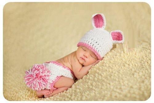 New Born Kostüm - Pink Rabbit (2), Newborn Baby Mädchen
