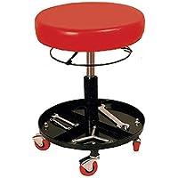 Taburete de trabajo ajustable/regulable en altura con ruedas para taller mecanico y casa - Asiento de FOAM ACOLCHADO