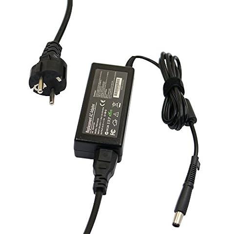 Rosefray 18.5V 3.5A 65W Adaptateur secteur / chargeur pour HP Pavilion Dv3 Dv4 Dv5 Dv6 Dv7 G4 G6 G7 G50 G60 DM4 G42 G62 G72 DV3000 HDX16 HDX9000 TX4400; HP Compaq CQ40 CQ45 CQ50 CQ60 CQ70