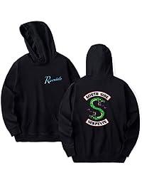 49682b61c8f3d EmilyLe Ladies Riverdale Hoodie Jughead Jones Southside Serpents Long  Sleeve Sweater