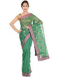 Paheli Women's Silk Saree (Green)