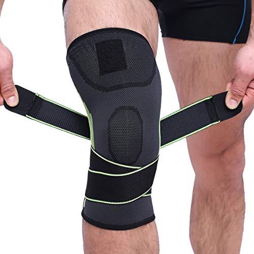 73JohnPol Men & Women Sports Kniebandagen Kniebandagen Compression & Elastic Support für Cross Training Gym Workout Gewichtheben HX081 (Farbe: Grün) (Größe: S) -