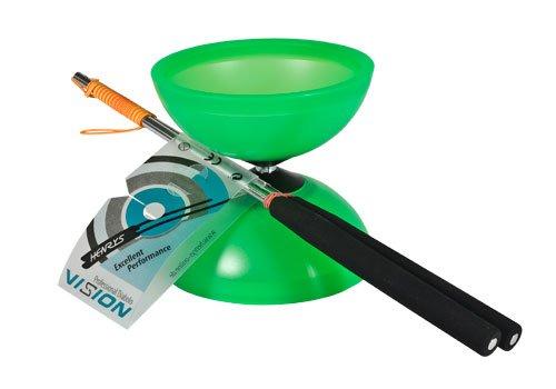 Henrys J04050-06 - Yo-Yo, Diabolo Vision Set, inklusive Handstäbe, grün