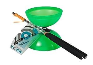 Henrys Diabolo Vision - Diábolo y Palos de Aluminio, Color Verde