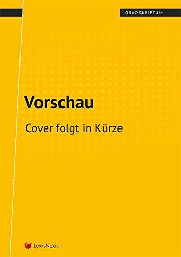Sachenrecht Allgemeiner Teil (Skriptum) (Skripten)