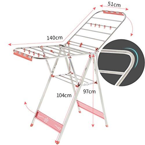 Airfoil Trockengestelle Boden Klapp Kleiderständer Aluminiumlegierung Farbbeschichtung Kleiderbügel drinnen und draußen Trockengestelle ( Farbe : B )