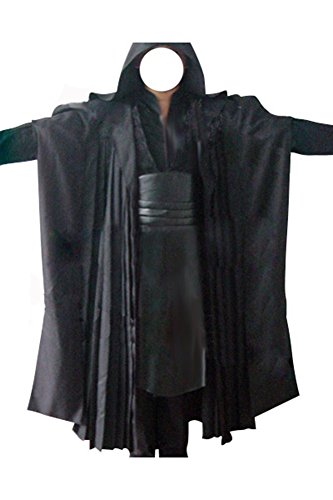 FUMAN Star Wars Darth Maul Tunic Robe Cosplay Kostüm Herren Schwarz - Darth Maul Kostüm Cosplay
