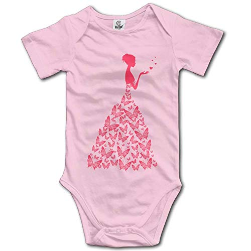 TKMSH Unisex Baby's Climbing Clothes Set Butterfly Dress Bodysuits Romper Short Sleeved Light Onesies for 0-24 Months Butterfly Pant Set