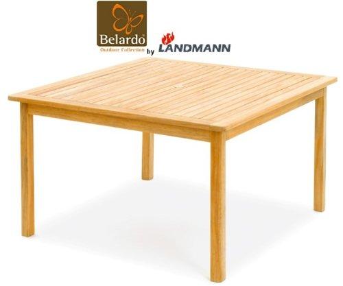 Landmann Belardo by Landmann Gartentisch Teakholz Tisch 120x120cm Teak Holztisch NEU