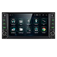 Ossuret Double Din Universal Car GPS Navi Android 9.0 Car Stereo Radio Fit for Toyota RAV4/Prado/Vios/Hilux Support CAM-IN FM USB DVR OBD2 TPMS DAB+