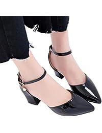 f605bd9943a Sandalias mujer ❤ Sonnena Sandalias de verano Mujer Zapatos de tacón grueso  Zapatos de tacón