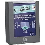 EXACOMPTA - 1 Protège Agendas en Plastique Transparent Pour Format Journalier - Format XL - 12,5x17,5 cm