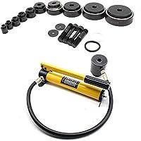 Blechlocher Lochstanze Zylinder Hydraulikpumpe Set im Koffer 15t Hydraulisch Cutting Die 16mm - 101mm