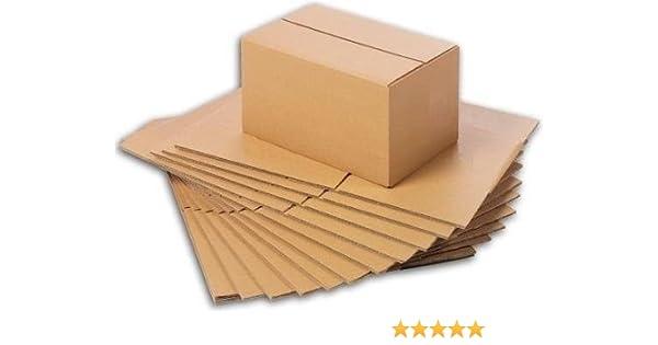 Faltschachteln, Faltkarton, Wellpappkarton, Wellpappfaltkarton, Kartons 200x150x100mm 3-Sicht 25 x Versandkartons