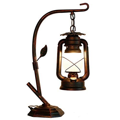 ischlampe Vintage Laterne Petroleumlampe Metall Retro Rusti Tischlampen Dekoration Nachttischlampe für Wohnzimmer Land Schlafzimmer ()