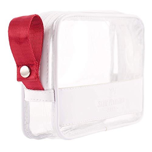 Saint Maniero Trousse de Toilette Transparente I Pochette Cabine Avion I Sac de Toilette Transparent I Pochette Transparente pour cosmétiques I Trousse aéroport