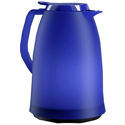 Emsa 514980 Isolierkanne, 1.5 Liter, Quick Tip Verschluss, 100% dicht, Blau, Mambo