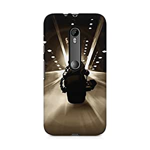 Printed back cover for Moto X Style by Motivatebox.Bat Bike design, Polycarbonate Hard case with premium quality and matte finish