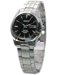 Seiko–SGG715P1–Armbanduhr–Quarz Analog–Zifferblatt schwarz Armband Stahl Grau