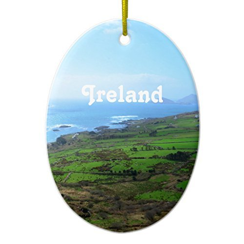 Funny Christmas Ornaments für Kinder Irish natur Keramik Ornament, oval-Urlaub Baum Ornaments Dekoration Weihnachts geschenke
