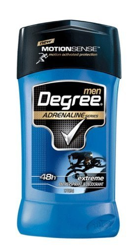 Degree Men AntiPerspirant Deodorant, Adrenaline Series, 2.7 Ounce (Pack of 2) by Degree BEAUTY (English Manual)