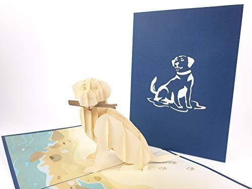3D-Pop-Up-Grußkarten Labrador Hund Geburtstag Ostern Halloween Muttertag Neujahr Neujahr Erntedankfest Valentinstag Hochzeit Weihnachten (Für Hunde Halloween)
