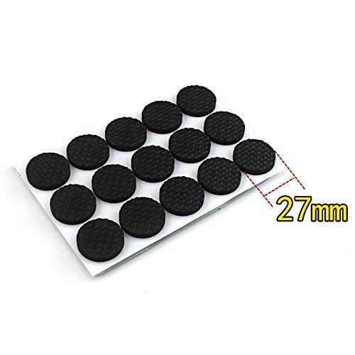 WARRAH Furniture Pads Non Slip Floor Pad Foot Cover Self-Adhesive Pads (Round 27mm 45PCS)