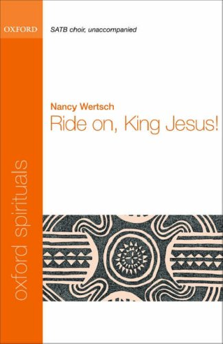 Image of Ride on, King Jesus!: Vocal score