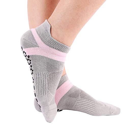 OUTANG Yoga-Griffsocken Frauen Rutschfeste Toesox Yoga-Socken, ideal für Pilates, Yoga, Barre, Tanz, Kampfsport, Trampolin, Fitness, Krankenhaus, Reha, Balance für Zuhause und Körper
