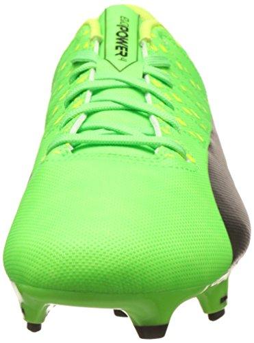 Puma Evopower Vigor 4 Fg, Chaussures de Football Homme Vert (Green Gecko-puma Black-safety Yellow 01)
