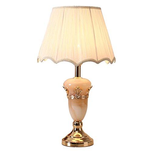 Traditionellen Marmor (Imitation Marmor Tischlampe vergoldet Basis Wohnzimmer Schlafzimmer Bettlampe E27 traditionelle Kunst Design dekorative Beleuchtung Tischlampe)