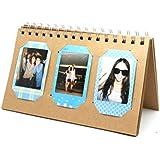 [Fujifilm Instax Mini Foto Álbum] - CAIUL 60 Bolsillos Calendario Álbum para Fujifilm Instax Mini 70 7s 8 25 50 90/ Pringo 231/ Instax SP-1 SP2/ Polaroid PIC-300P Z2300 Film (Marrón)