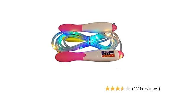 rose Kinder Springseil The Glowhouse Springseil inkl beleuchtet Fitness-Spielzeug Z/ähler