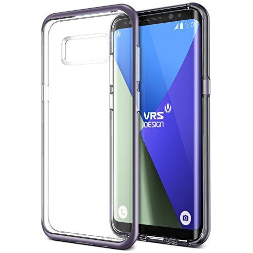 Galaxy S8 Plus Hülle, VRS Design® Silikon Schutzhülle [Orchid Grey] Transparent Schlagfesten Stoßstangen Durchsichtige Case TPU Handyhülle Clear cover [Crystal Bumper] für Samsung Galaxy S8 Plus 2017