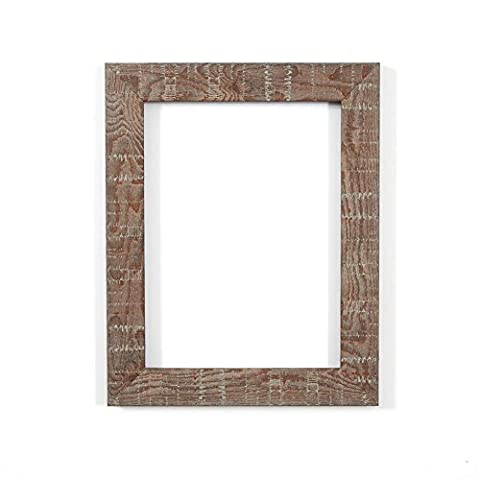 Shabby Chic Rustic/ Wood Grain Picture /Photo frame - With an MDF backing board - Ready to hang or stand - With a High Clarity Styrene Shatterproof Perspex Sheet-Walnut 10