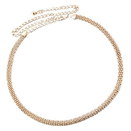 MagiDeal Hochzeit Schärpe Hüftgürtel Taillengürtel für Abendkeid Cocktailkleid - Gold, 115CM