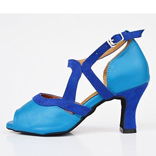 Meijili , Damen Tanzschuhe Blau