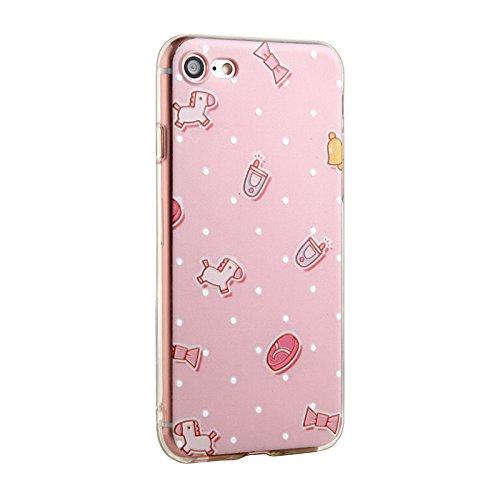 Voguecase® für Apple iPhone SE hülle, Schutzhülle / Case / Cover / Hülle / TPU Gel Skin (Aquarell Blätter) + Gratis Universal Eingabestift Kleine Trojaner