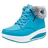UFACE Frauen Freizeit Plus Velvet Bottom Sportschuh Wedges Thick Bottom Damen Sneakers