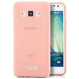 Zanasta Designs Silikon Schutzhülle für Samsung Galaxy A3 (2014) Slim Case Hülle Rosa