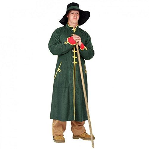 Grüne Velour Hose (Kostüm Nachtwächter Gr. L Mantel grün Hose Hut Schäfer Hirte Karneval)