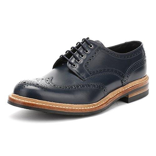 loake-hombres-azul-marino-worton-brogue-derby-zapatos-uk-8