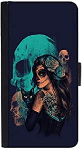 Snoogg Day Of The Dead Designer Protective Phone Flip Back Case Cover For Xiaomi Redmi Note 3