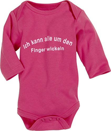 Schnizler Unisex Baby Body Langarm, Finger wickeln, Oeko – Tex Standard 100, Gr. 62 (Herstellergröße: 62/68), Rosa (pink 18)